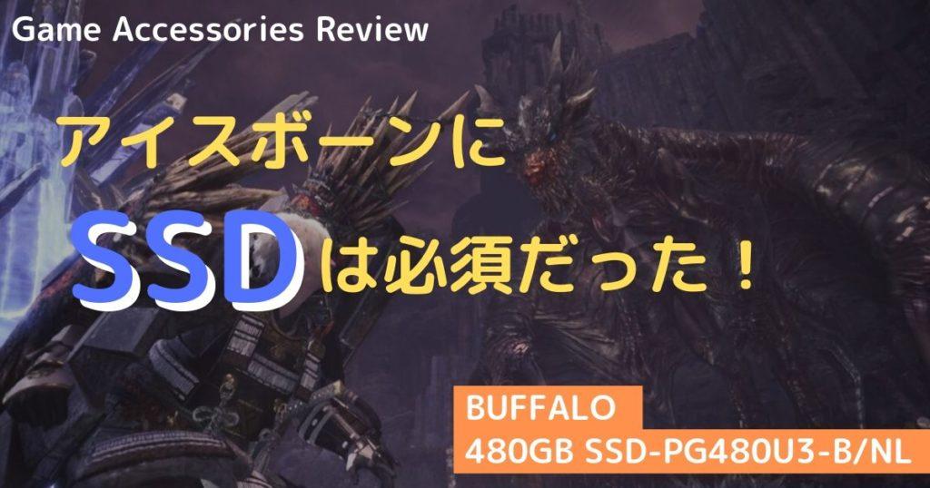 アイスボーン  BUFFALO 480GB SSD-PG480U3-B/NL レビュー
